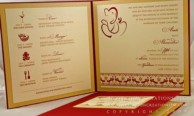 2 grooms wedding invitations