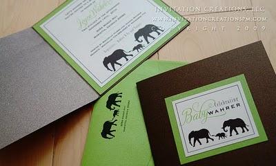 Classic elephant baby shower invitation invitation creations blog classic elephant baby shower invitation filmwisefo